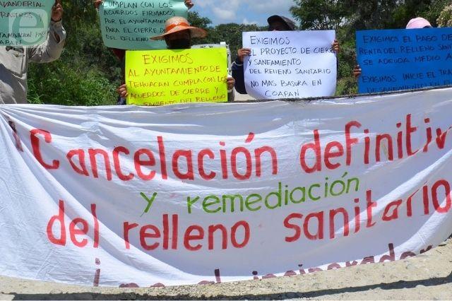 Liberan relleno de Tehuacán con pago de 230 mil pesos