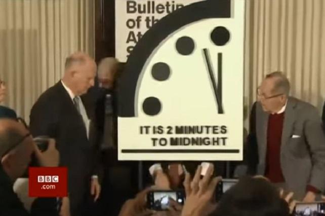 ¿El fin de mundo? Reloj del juicio final cerca del apocalipsis