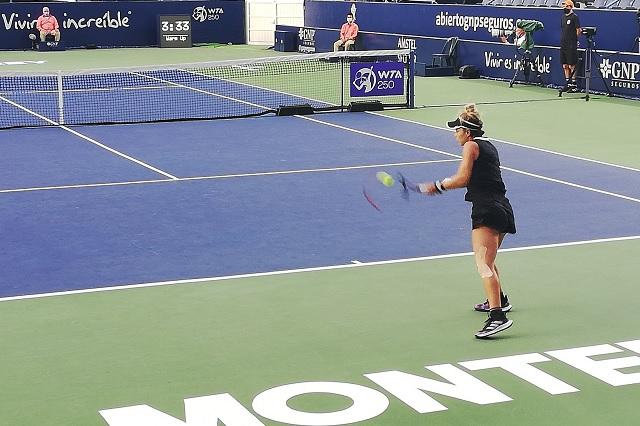 Renata Zarazúa también cayó en primera ronda del Abierto de Monterrey