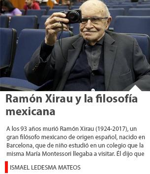 Ramón Xirau y la filosofía mexicana