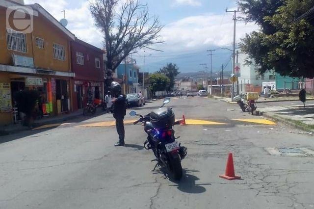 Reparan calles tras accidentes de niños en Atlixco