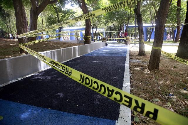 Ponen reglas para evitar más daño a pista del Parque Juárez