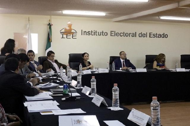El 22 de abril entregará IEE prerrogativas a los partidos