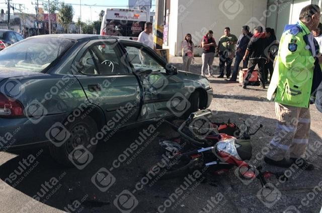 Repartidor de Rappi sufre accidente en colonia El Mirador