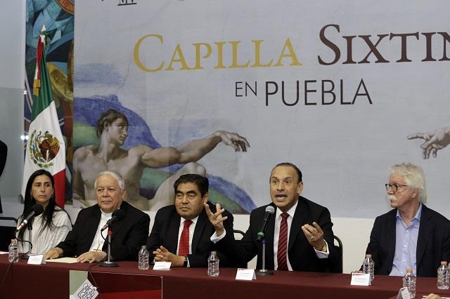 Paga Puebla 16 mdp para traer réplica de la Capilla Sixtina