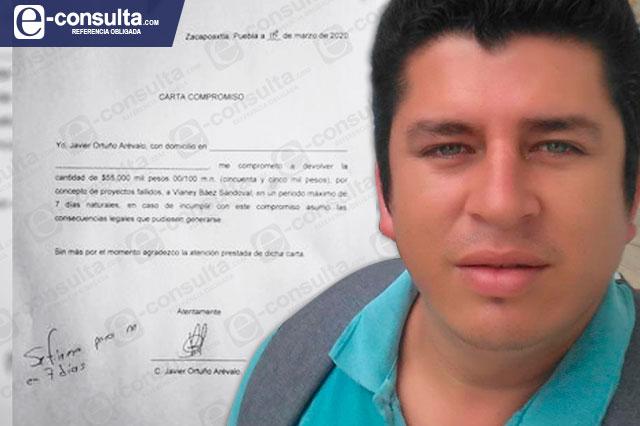 Ex delegado de Zacapoaxtla niega ser responsable de fraude