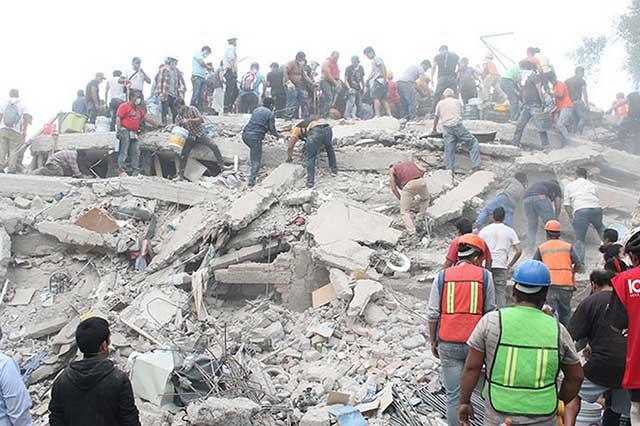 Suman más de cinco mil las réplicas sísmicas en México