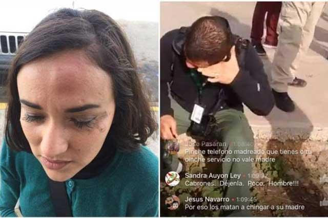 La Gendarmería golpea a reporteros que cubrían protestas en Tijuana
