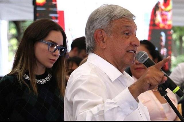 Belinda sufrió represalias por haber apoyado mi campaña, dice AMLO