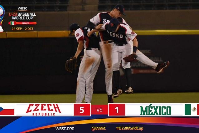 México debuta con derrota en Mundial de Beisbol Sub 23