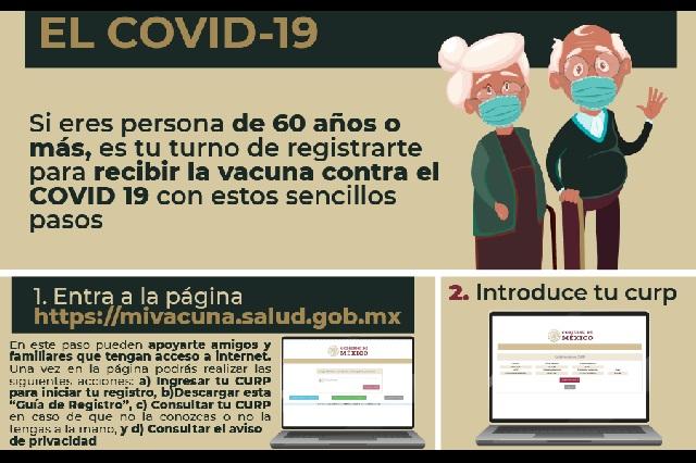 Pasos a seguir para registrar adultos mayores por vacuna contra Covid