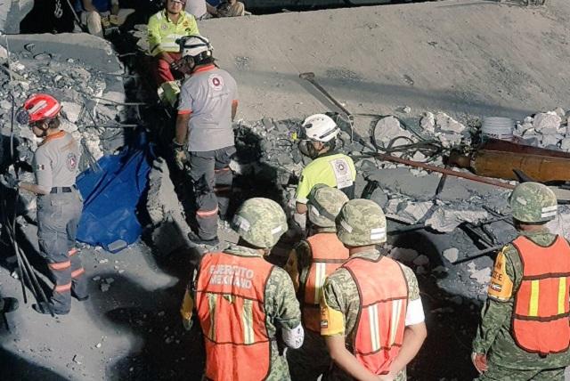 Rescatan cuerpo de octava víctima del derrumbe en plaza de Monterrey