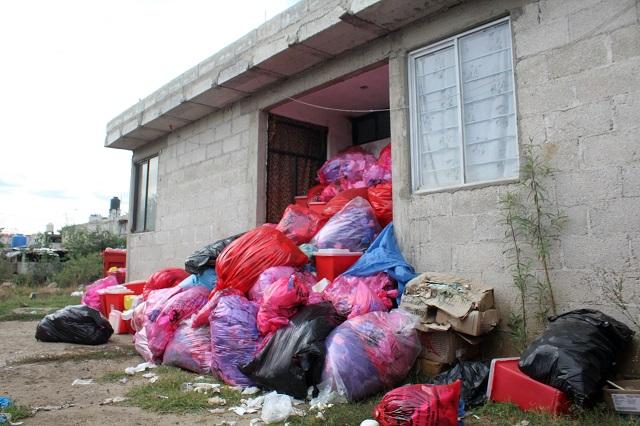 Clausuran depósito de desechos médicos en Xonacatepec
