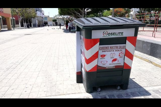 En Tehuacán ignoran contenedores especiales para residuos
