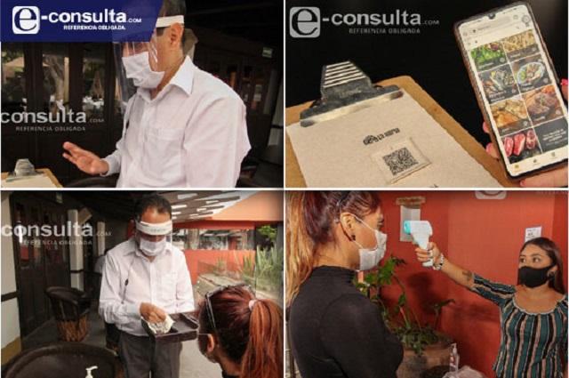 Así será la Nueva Normalidad en restaurantes de Puebla (video)