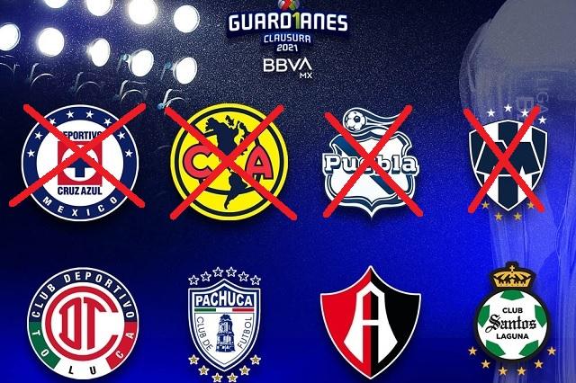 Liga MX: repechaje influyó en los 4tos de final; caen los 4 primeros de la tabla
