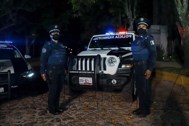 Reporta Policía Municipal de Puebla más de 100 detenidos