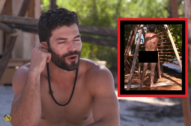 Adrián Di Monte se desnuda en Reto 4 Elementos y hay video