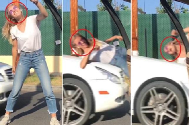 Video muestra como mujer es arrollada cuando hacía el In My feelings Challenge