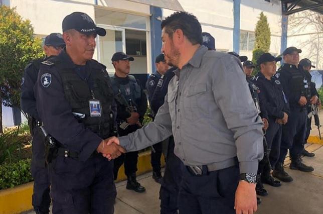 Se reúne titular de Seguridad Pública con Policía Estatal de la Sierra Norte