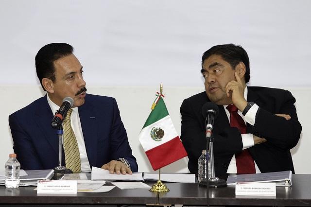 Se pasan delincuentes entre Puebla e Hidalgo: Fayad y Barbosa