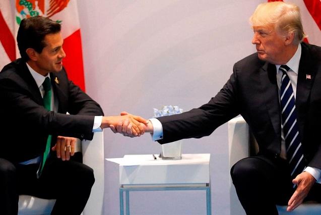 El encuentro entre Peña Nieto y Trump