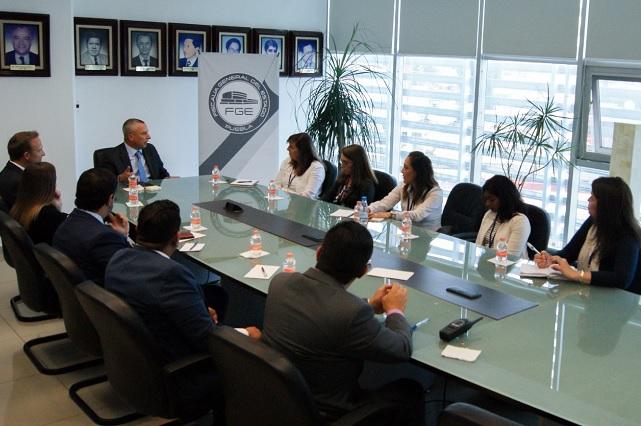 Reunión de trabajo de FGE y personal del Departamento de Estado de EU
