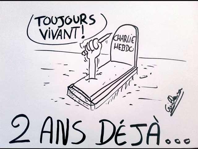 Recuerdan atentado a dos años de Charlie Hebdo