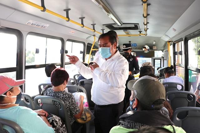 Revisan más de 3 mil unidades de transporte público en Puebla