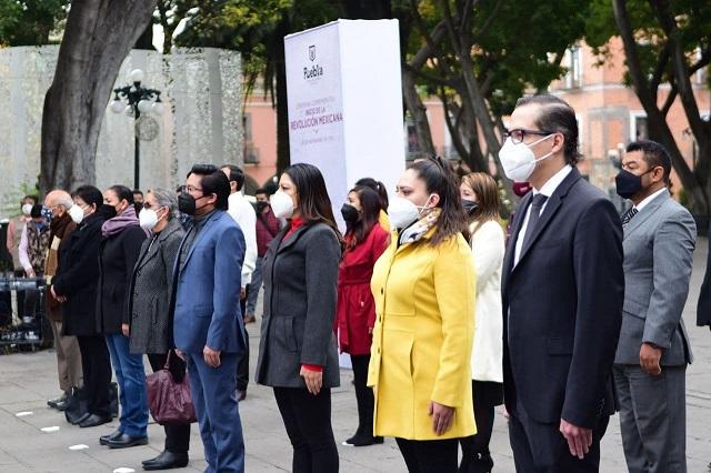 Gobierno capitalino conmemora aniversario de la Revolución Mexicana