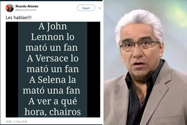 Despide Milenio a Ricardo Alemán por tuit que incita a matar a AMLO