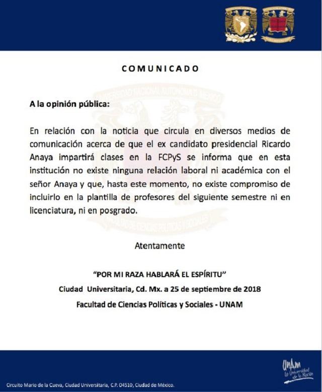 Foto / https://twitter.com/RicardoAnayaC
