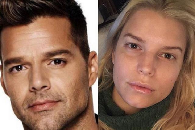 Jessica Simpson encantada de ser hermana gemela de Ricky Martin