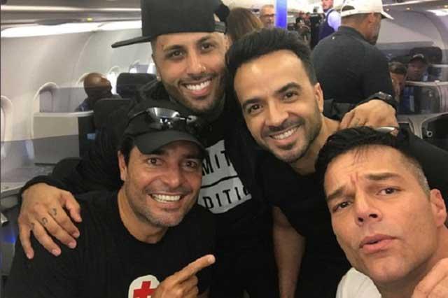 Ricky Martin, Chayanne y Fonsi ayudan a damnificados por huracán María