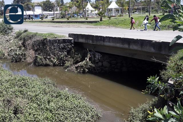 Quitan 120 toneladas de basura en ríos de Puebla y vaso regulador
