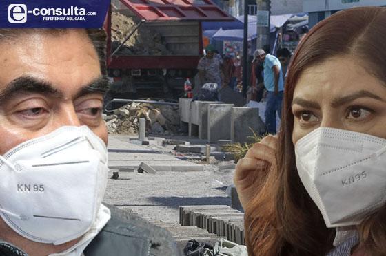 Defiende Claudia Rivera obras en la capital; Barbosa: no se harán
