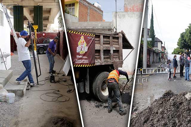 Presume Rivera inversión en obras aunque siguen pendientes