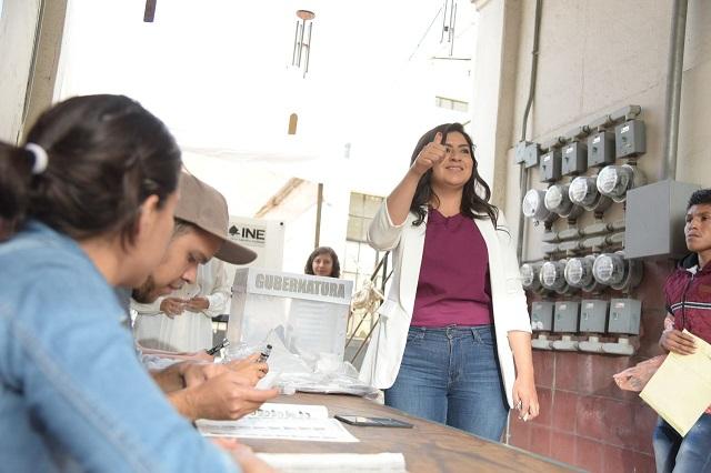 Claudia Rivera invita a poblanos a ejercer su derecho al voto