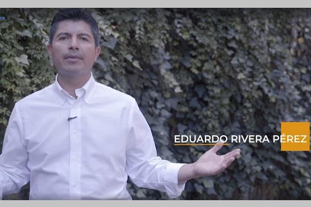 Inicia Eduardo Rivera campaña con video contra ayuntamiento
