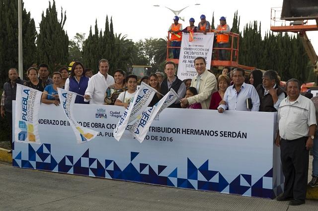 RMV da banderazo a ciclopista y distribuidor Hermanos Serdán