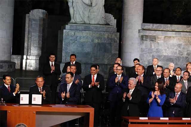 Acompaña RMV a Peña en inauguración de reforma de justicia penal
