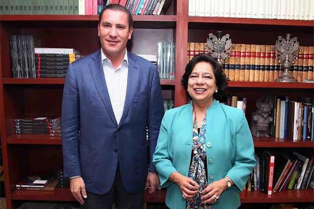 Moreno Valle se reúne con Teresa Franco, titular del INAH