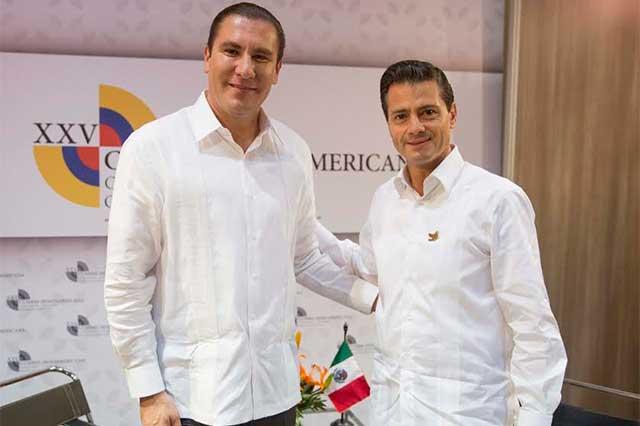 Se reúnen Rafael Moreno Valle y Enrique Peña Nieto en Cartagena