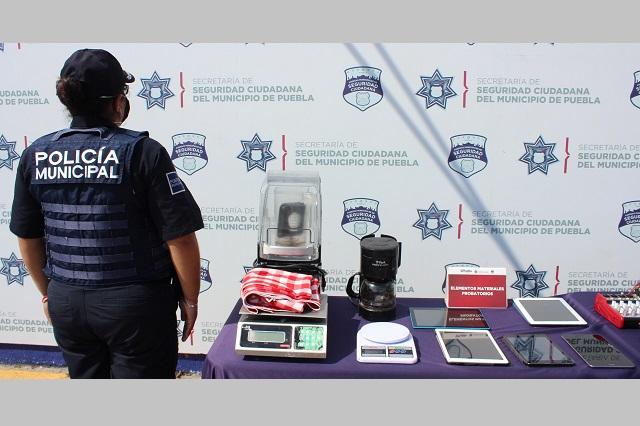 Ladrones abandonan objetos robados en restaurante de La Paz