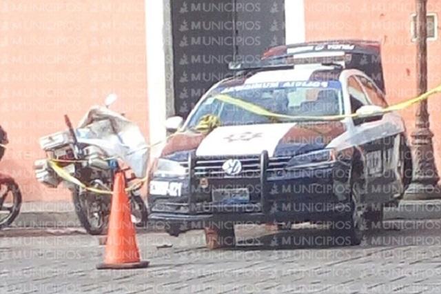 Asaltantes dejan en tabiques patrullas de Huaquechula