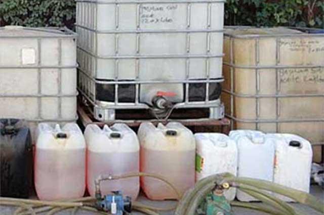 Exhiben en TV nacional venta de gasolina robada en Huixcolotla