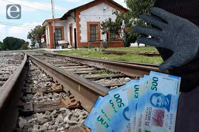 Ignoran robo de rieles y se descarrila tren en Puebla