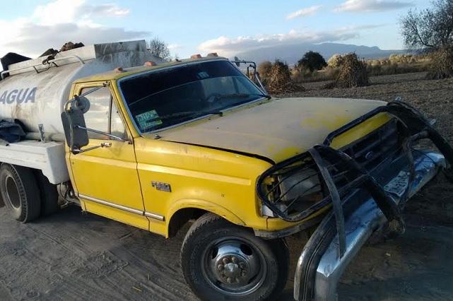 Asegura Ejército en Amozoc 5 unidades con combustible robado