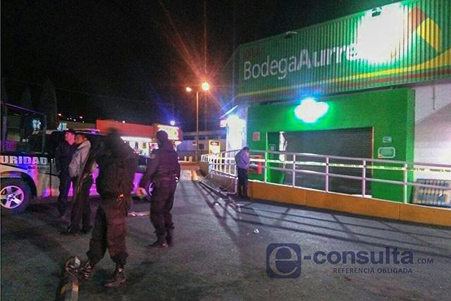Comando roba cajero HSBC en Bodega Aurrerá de Tecamachalco