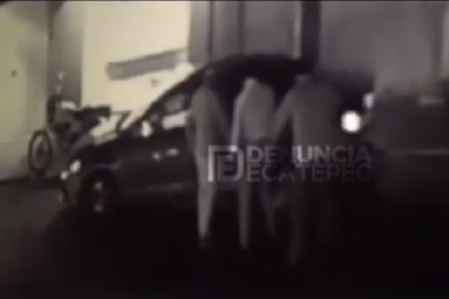 Graban en video otro robo de auto en Ecatepec